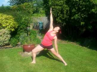 sun warrior yoga pose  spalding yoga classes  telephone